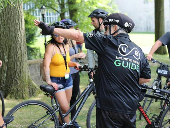 Visite guidée de Central Park à vélo avec guide français - Fontaine