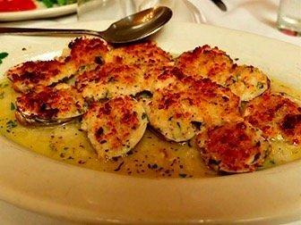 Carmine's restaurant familial à New York - Baked Clams