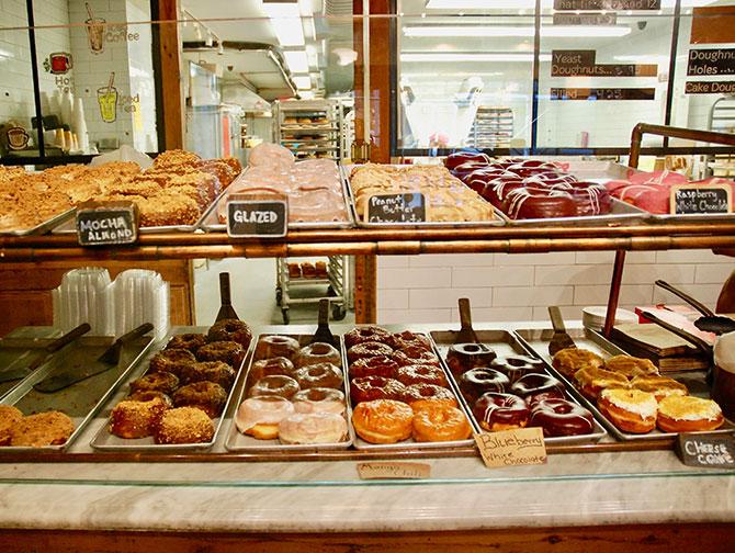 Visite Donut à New York - Vitrine de beignets